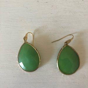 Green Stella & Dot earrings